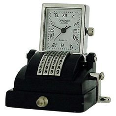 Miniature Old Style Cash Register Novelty Ornamental Collectors Clock 9744 & Garden Cash Register, The Collector, Quartz, Miniatures, Clock, Ornaments, Diy, Accessories, Watches