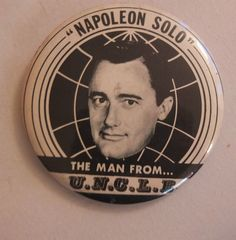NAPOLEON SOLO BADGE The Man From U.N.C.L.E. uncle rare 1960s vintage