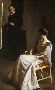 In the studio by Joseph Rodefer DeCamp (American 1858 -  1923)