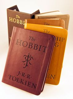 The Hobbit and The Lord of the Rings: Deluxe Pocket Set - perhaps the closest in cover to how Bilbo and Frodo wrote it :)