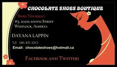 Hey Westlock did you know there is a new shop in the mall??  Its called Chocolate Shoes Boutique and its a real diamond in the rough!  A must see for sure.  Updates on Facebook and Pintrest!