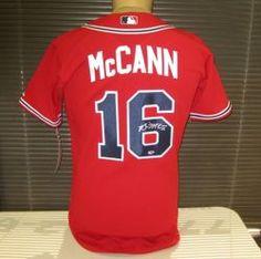 Brian McCann Signed Authentic Red Atlanta Braves Jersey @ www.radtkesports.com
