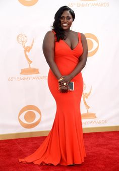 #emmyfashion Actress Danielle Brooks arrives at the 65th Annual Primetime Emmy Awards held at Nokia Theatre L.A. Live on September 22, 2013 in Los Angeles, California.