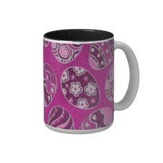 Shop Decorative Pink Easter Eggs Coffee Mug created by BlueRose_Design. Egg Coffee, Coffee Mugs, Beer Mugs, Easter Cookies, Chocolate Box, Mug Cup, Easter Baskets, Spring Flowers, Easter Eggs