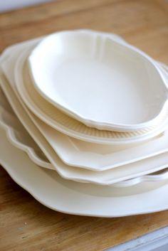 Creamware Platters, Set of 6