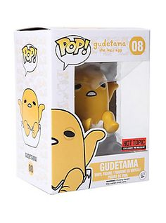 Funko Sanrio Pop! Gudetama Shell Vinyl Figure Hot Topic Exclusive,