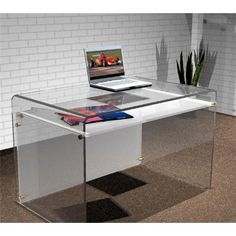 Acrylic office table | pinned by www.peregrineplastics.com