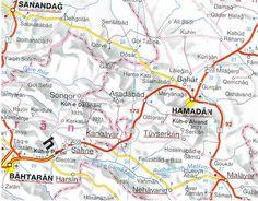 Map of the Hamadan Rug Producing Region