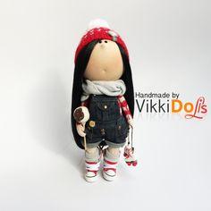 Текстильная Кукла-Интерьерная Кукла-Кукла Ручной Работы-Мягкая Игрушка…