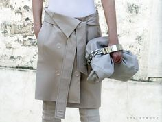 Trend alert: Skirts over pants |  Maison Martin Margiela  #StreetStyle