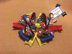 Ribbon bow Super heroes Boutique Bows, Nintendo 64, Ribbon Bows, Birthday Candles, Superhero, Art, Art Background, Kunst, Performing Arts