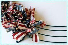 {Patriotic} Rag Wreath Tutorial | Crafty Mom Blog
