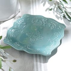Turquoise Sweet Olive Salad Plate