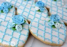 Rose Sugar Cookies Sweet17Cookies.Etsy.com