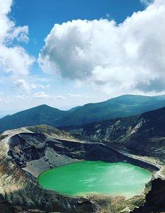 Okama Crater, Zao. Miyagi, Japan,