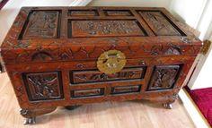 camphor antique chest, coffer blanket box