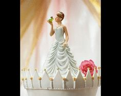 Fairytale Weddings: A Theme Designed for a Princess -   Princess Bride Kissing Frog Prince Figurine
