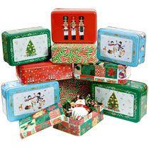 Bulk Rectangular Holiday-Printed Tins at DollarTree.com...$48