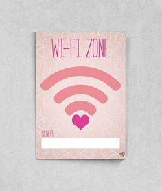 Poster para escrever a senha do Wi-fi Zone naTop Quadros