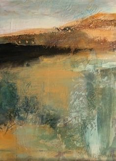 "Earth Vision-Abstract Landscape by Joan Fullerton Oil ~ 16"" x 12"""
