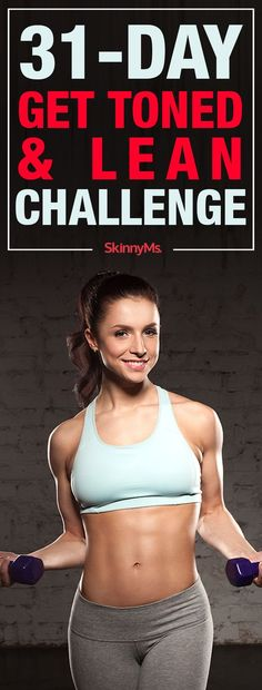 This amazing 31-Day Get Toned & Lean Challenge contains workouts for every day of the month. The workouts for each day are short but effective, combining high-intensity interval training (HIIT) and weight lifting to maximize fat burn and weight loss.