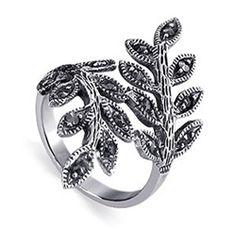 sterling silver vine #marcasite sterling silver #ring