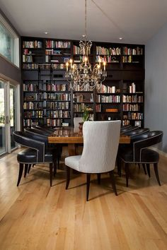 25 Dining Rooms And Library Combinations, Ideas, Inspirations Part 60