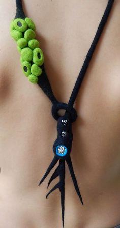 Resultado de imagen de necklace felted diy artistic