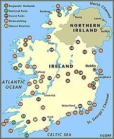 Ireland has five internationally recognized National Parks which, apart from their scientific importance, contain some of the most spectacular scenery in the country. The five are Glenveagh, Co. Donegal; Killarney, Co. Kerry; Connemara, Co. Galway; The Burren, Co. Clare and in the Wicklow Mountains.    Read more: http://www.gorp.com/parks-guide/travel-ta-ireland-hiking-sidwcmdev_057460.html#ixzz25UrC6Rnn