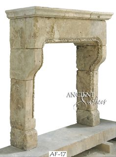 Our Collection of Architectural Antique Stone Fireplaces. Those stone fireplaces give a good design idea to anyone looking to pick an appropriate antique limestone fireplace design for their home. Those fireplaces are an example of what will be included in our new online catalog. http://www.ancientsurfaces.com/Antique-Fireplaces.html