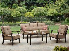 WIN THIS SET!  #BHGMakeitFunEntry   Better Homes and Garden Carter Hills Outdoor Conversation Set, Seats 5