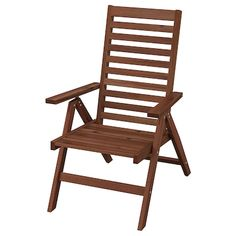 ÄPPLARÖ Bench w/wall panel + shelf, outdoor, brown stained - IKEA Chair Pads, Chair Cushions, Garden Furniture, Outdoor Furniture, Paper Industry, Wood Supply, Drop Leaf Table, Banquette, Recycled Wood