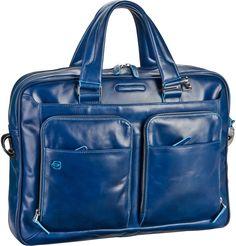 Piquadro Blue Square Laptoptasche Blu (innen: Blau) - Notebooktasche   Tablet