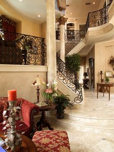 Mediterranean Staircase Design, Pictures, Remodel, Decor and Ideas - page 27