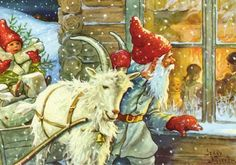 The trolley Nieves: JENNY Nystrom, ILLUSTRATOR WHO GAVE RISE TO THE IMAGE OF SANTA CLAUS