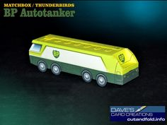 BP Autotanker Paper Model by Dave Winfield - Dave's Card Creations © www.cutandfold.info