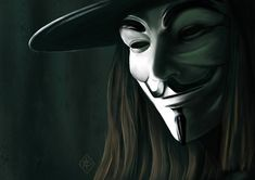 This portrait I did this as part of a competition on a digital painting forum. It took me about This is second portrait painted fully digitally V Vendetta Tattoo, Ideas Are Bulletproof, Anonymous Mask, Guy Fawkes, Creative Art, Dc Comics, Portrait Photography, Masks, Crushes