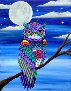 Owl Artwork, Owl Wallpaper, Owl Tattoo Design, Owl Pictures, Beautiful Owl, Mexican Folk Art, Hippie Art, Whimsical Art, Bird Art