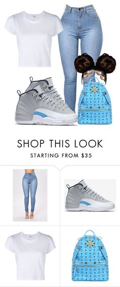 9ac587a476d #jordan12 by baddiest-bish on Polyvore featuring RE/DONE, MCM and NIKE