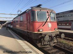 Re 4/4 II 11200 ( 420 200-8 ) à Yverdon les Bains Swiss Railways, Train, Trains, Zug, Strollers