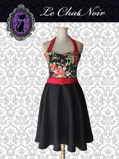 Vestido Lucy Flores. #faldaplato #pinup #piupdress #pinupstyle #retro #vintage #flores #flowers #escotecorazon #ropa #indumentaria #pinup