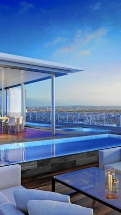 The penthouse atop the Four Seasons Private Residences-Los Angeles will have a 9,000-square-foot garden and a swimming pool. #styleestate