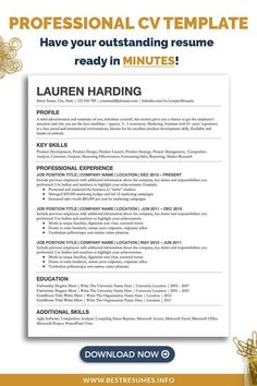 Are you looking for a professional student cv template with a clean CV layout and CV design? This curriculum vitae student cv template will help you update your old resume in minutes. All included in the CV package - matching free cv cover letter and reference template. This cv is also suitable for students, freshers and for a job with no experience. Cv Template Student, Resume Cover Letter Template, Cover Letter Example, Cover Letter For Resume, Modern Cv Template, Simple Resume Template, Resume Templates, Professional Cv Examples, Good Resume Examples
