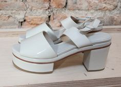 Cos SS14 accessories ankle strap white platform shoes