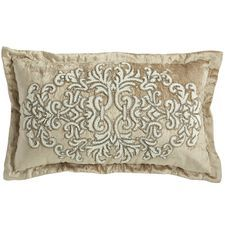 Romantic Glam Beaded Velvet Lumbar Pillow