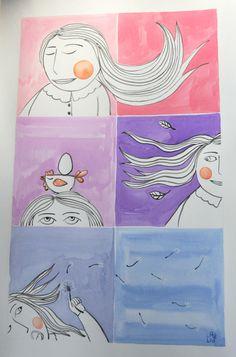 original Watercolour illustration di LabLiu su Etsy, €25.00