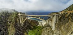The Bixby Creek Bridge - built in Panorama out of 5 individual images. California Homes, California Travel, Big Sur Highway 1, Pacific Coast Highway, Free Travel, Plan Your Trip, Wine Country, Trip Planning, Vacation