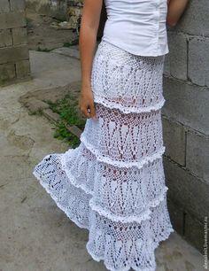 Длинная юбка в пол крючком