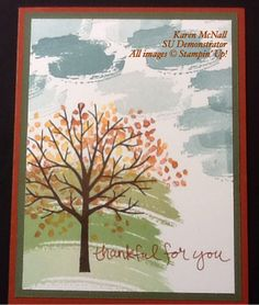 Stampin' Up! Sheltering Tree and Work of Art