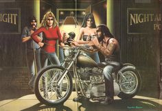 David Mann Biker Art Easyriders Centerfold 16'' x 20'' Matted Motorcycle Poster…